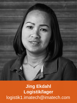 Jing Ekdahl logistik/lager Imatech