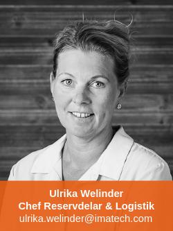 Ulrika Welinder Chef Reservdelar & Logistik Imatech